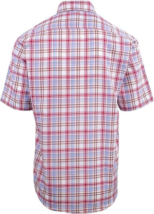 Fenside Country Clothing Alford – Camisa de verano de manga corta para hombre, ajuste regular hasta 5XL Rojo rosso L/112/ 117 cm: Amazon.es: Ropa y accesorios