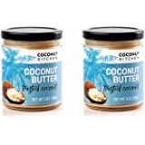 Coconut Kitchen Toasted Coconut Butter Toasted Organic Coconut & Vanilla Gluten-free Peanut-free Dairy-free No Refined Sugar (2-pack 9 oz jars)
