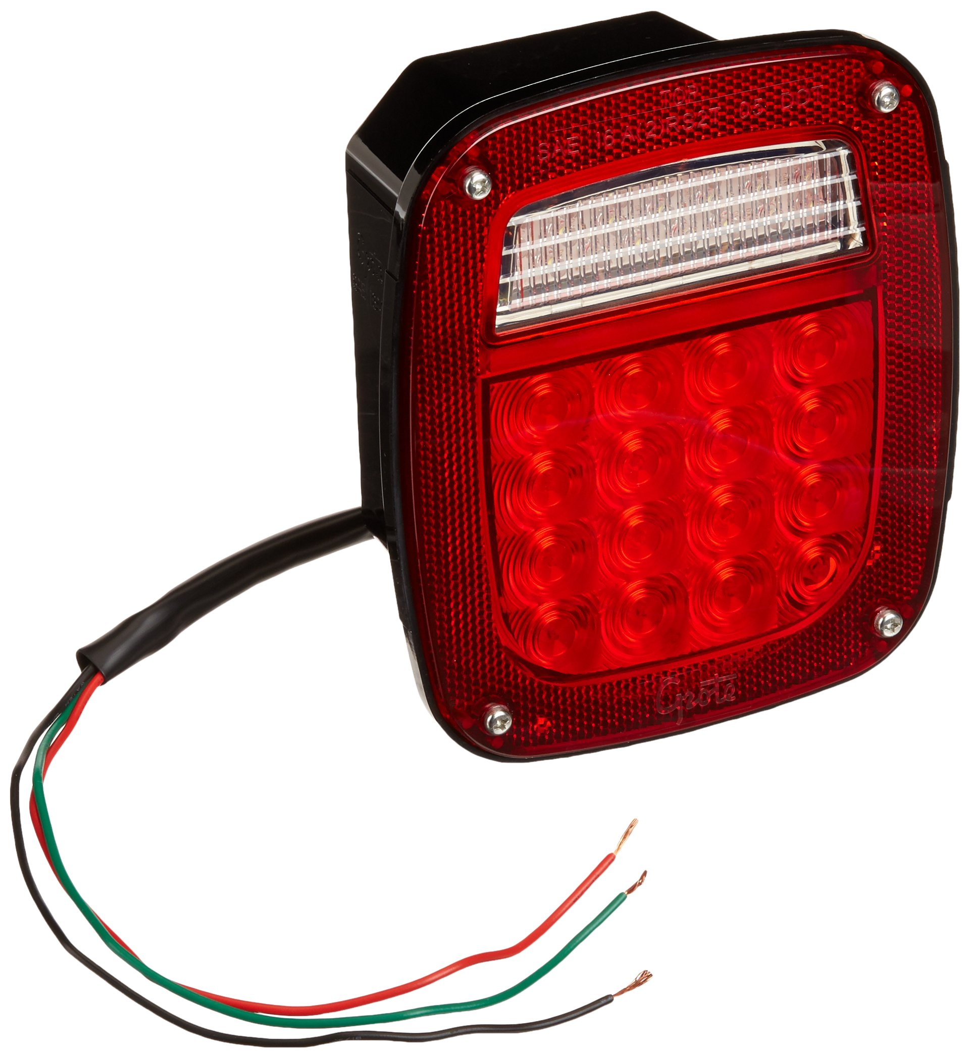 Grote G5092-5 Hi Count LED Stop Tail Turn Light (LH with License Window) by Grote