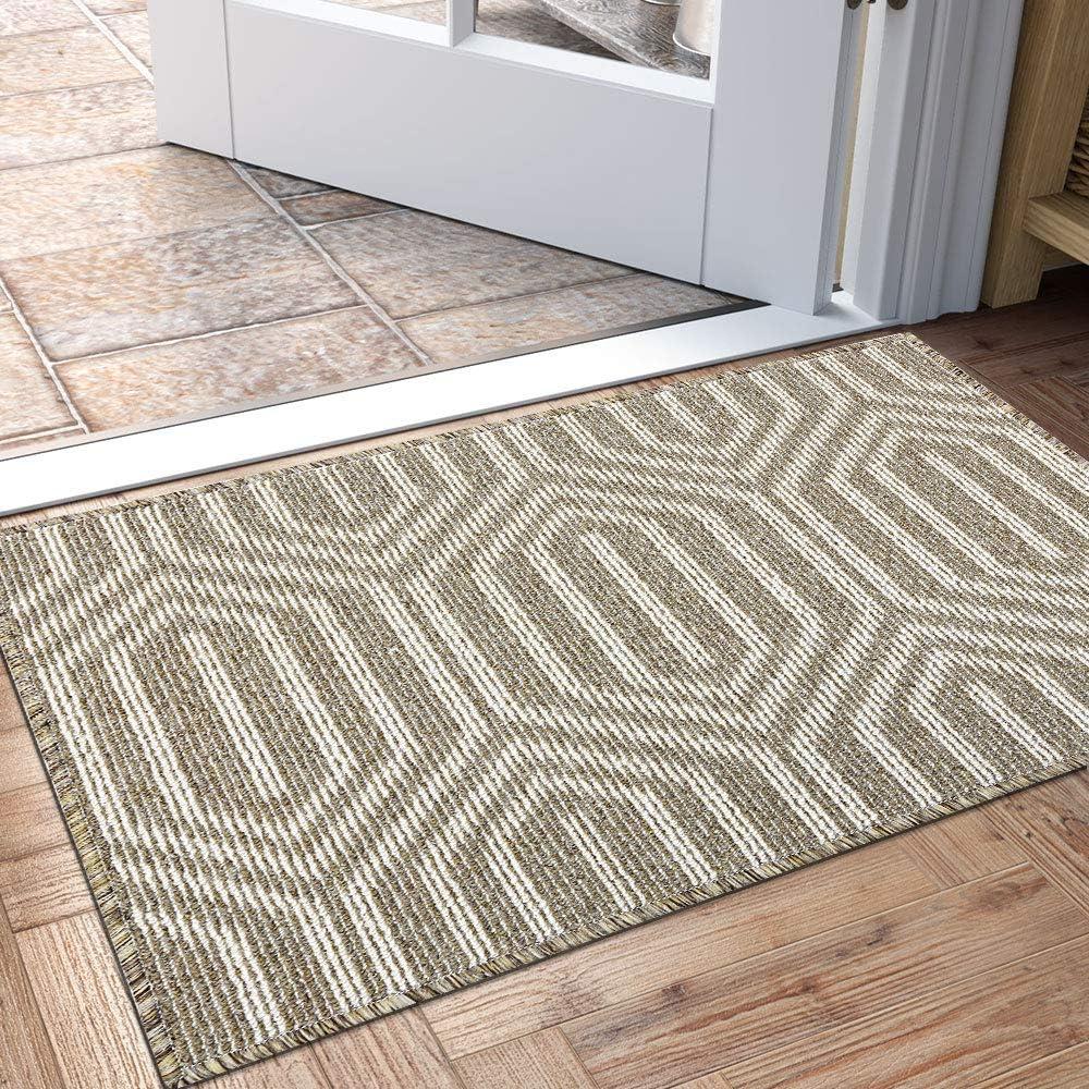 Indoor Doormat Non Slip Absorbent Resist Dirt Entrance Rug 32 X48 Large Size Machine Washable Low Profile Inside Floor Door Mat Amazon Ca Home Kitchen