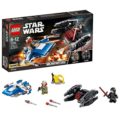 Star Wars A-Wing Toy vs Tie Silencer Microfighters Building Set : Toys & Games