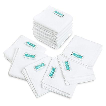 12 unidades toalla de cara de gamuza de/500 G/m² 100% algodón