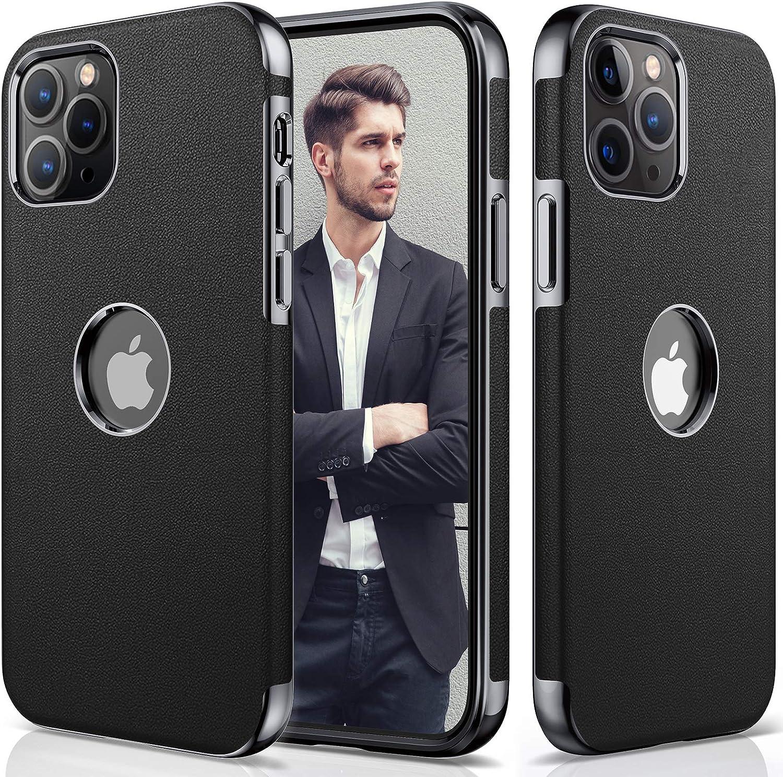 LOHASIC for iPhone 12 Pro Max Phone Case, Slim Premium Leather Protective Shockproof Luxury Business Design Vintage Men Women Case Soft Back Cover Designed for iPhone 12 Pro Max 6.7
