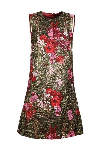 Dolce&Gabbana vestito abito donna corto miniabito senza maniche jacquard oro EU 44 (UK 12) F65W5TFJM...