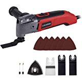 MANUSAGE 2.5 Amp Oscillating Tool,Variable Speed Oscillating Multi Tool Kit with 3.5°Oscillation Angle,Quick Blade…