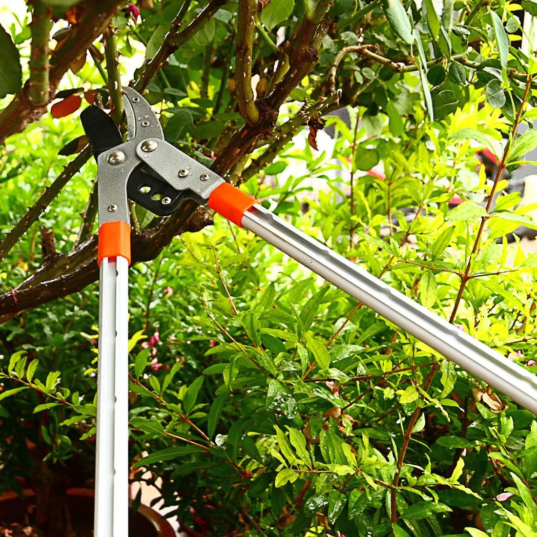 Pruning Lopper T-MAI 28~40 Extendable Anvil Lopper Pruning Shears Up to 1.9 Cutting Capacity Tree Pruner with Aluminium Lightweight Handle Branch Cutter Garden Pruning for Tree Trimmer