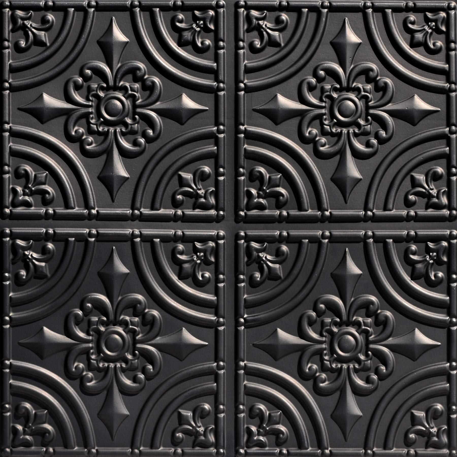 From Plain To Beautiful In Hours 205bk-24x24-25 Wrought Iron Ceiling Tile Black 25
