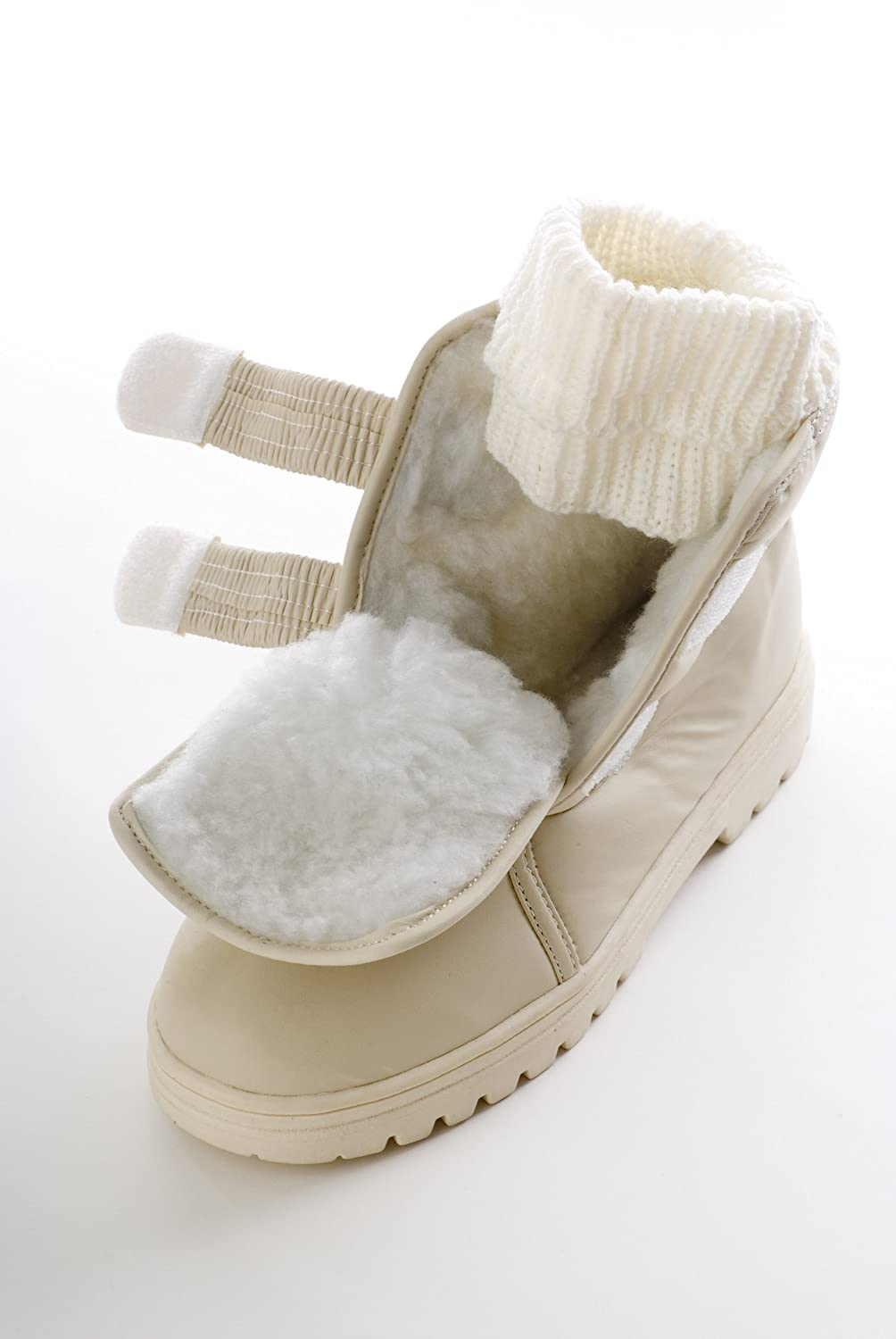 Madison - Ladies Waterproof Boots with Flip Down Ice Treads (7):  Amazon.co.uk: Shoes & Bags