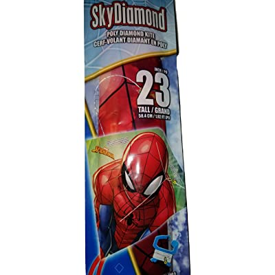 "Sky Diamond Spiderman Character 23"" Kite: Toys & Games"