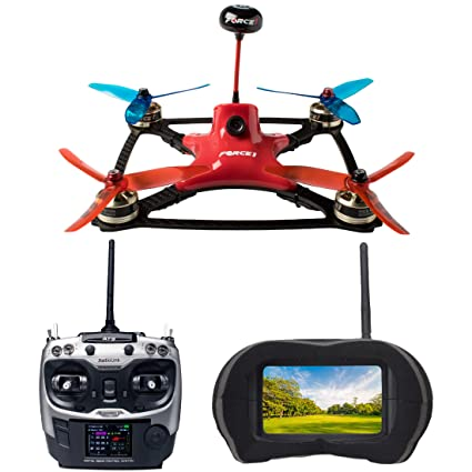 8e77bfbfaf65 Amazon.com  Force1 Racing Drones with VR Headset - DYS Pro FPV Brushless  Drone with Camera Live Video