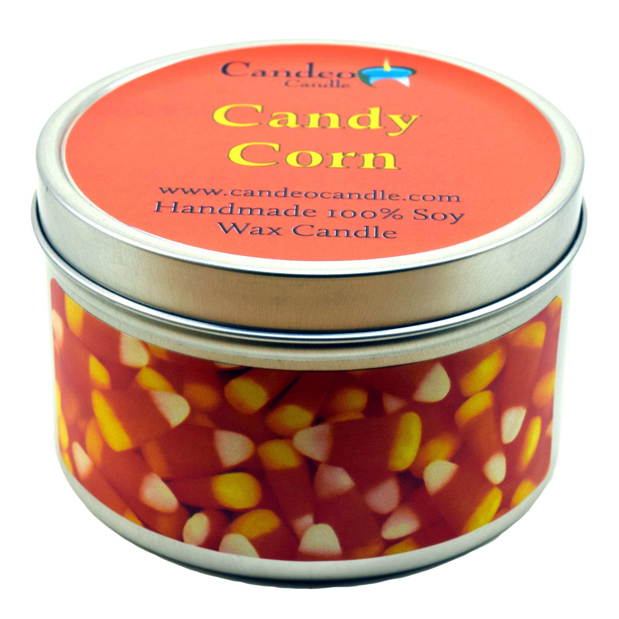 Candy Corn, Super Scented Soy Candle Tin (4 oz ...