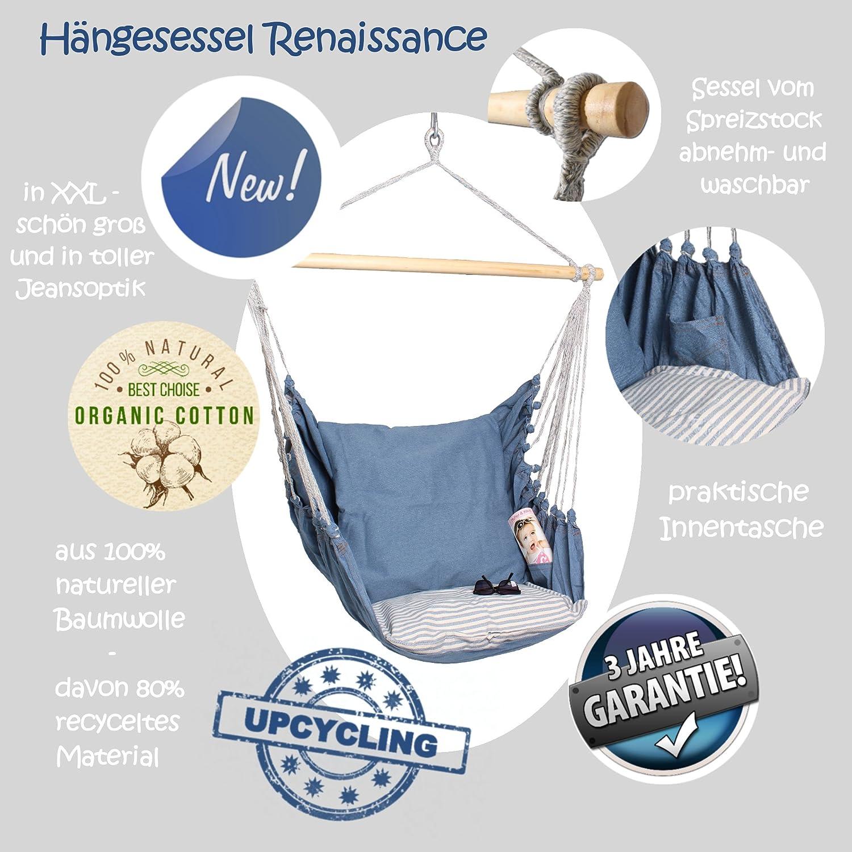 HOBEA-Germany Hängesessel Renaissance Renaissance Renaissance XXL inkl. 2 Kissen 3e416c