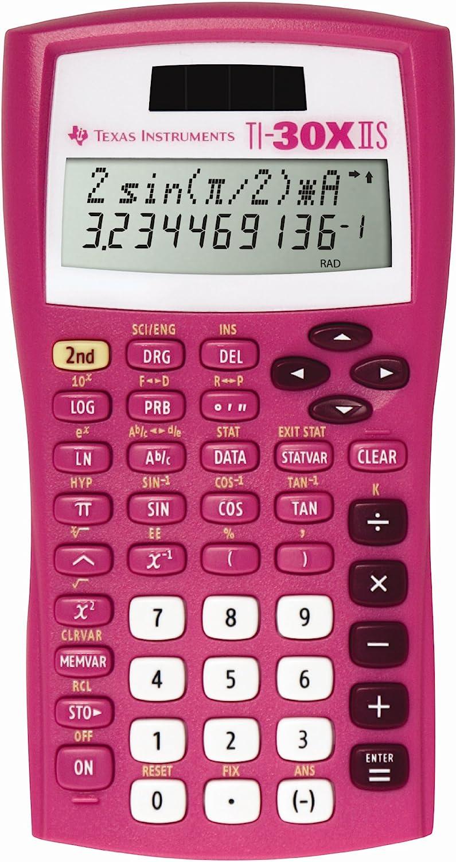 Pink for sale online Texas Instruments TI-30X IIS 2-Line Scientific Calculator