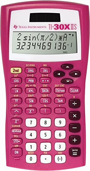 Texas Instruments TI-30X IIS 2-Line Scientific Calculator, Pink