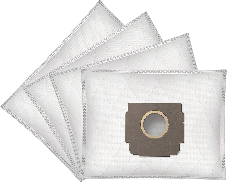 ?WESSPER/® Bolsas de aspiradora para Moulinex Powerclean AP8.01 4 piezas, sint/éticas