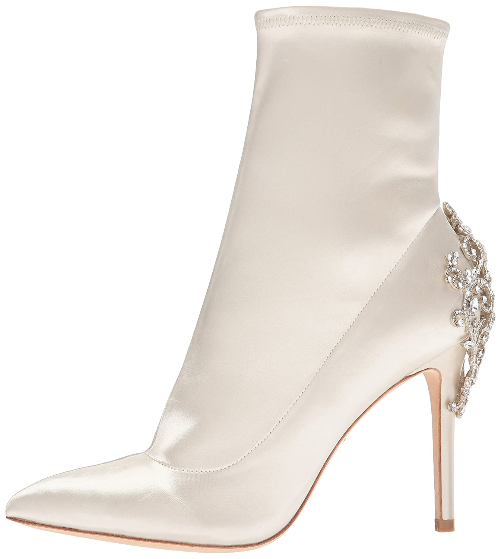 Badgley Mischka Women's Meg Ankle Boot B074848T46 11 B(M) US Ivory