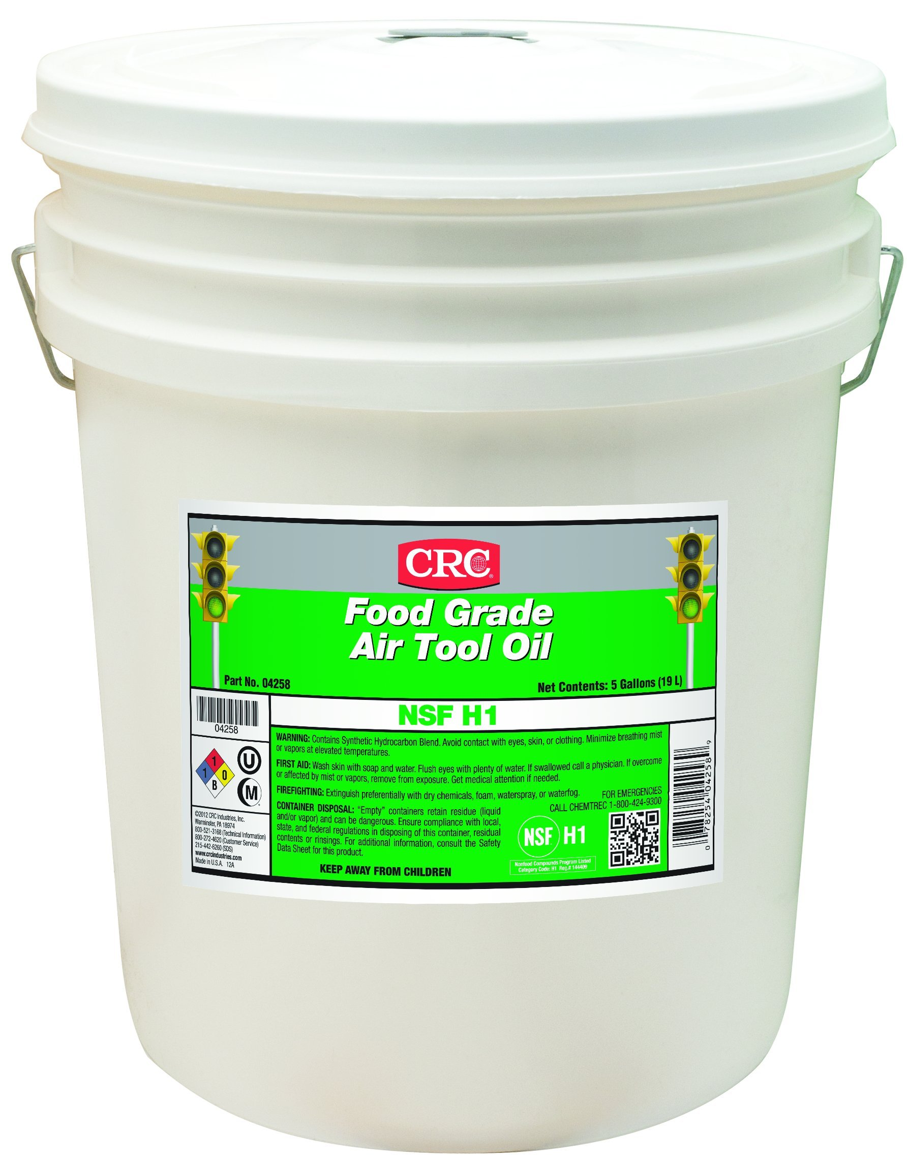 CRC Food Grade Air Tool Oil, 5 Gallon Pail, Clear