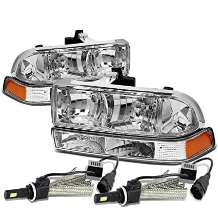 Amazon com: For Chevy S10 / Blazer GMT325/330 Chrome Housing Amber