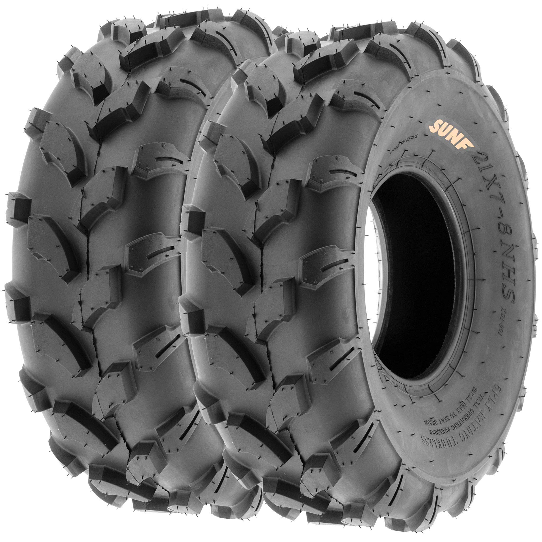 SunF A003 ATV/UTV/Lawn-Mowers Off-Road Tire 18x7-8, 6 PR, Directional Tread (Pair of 2) by SUNF