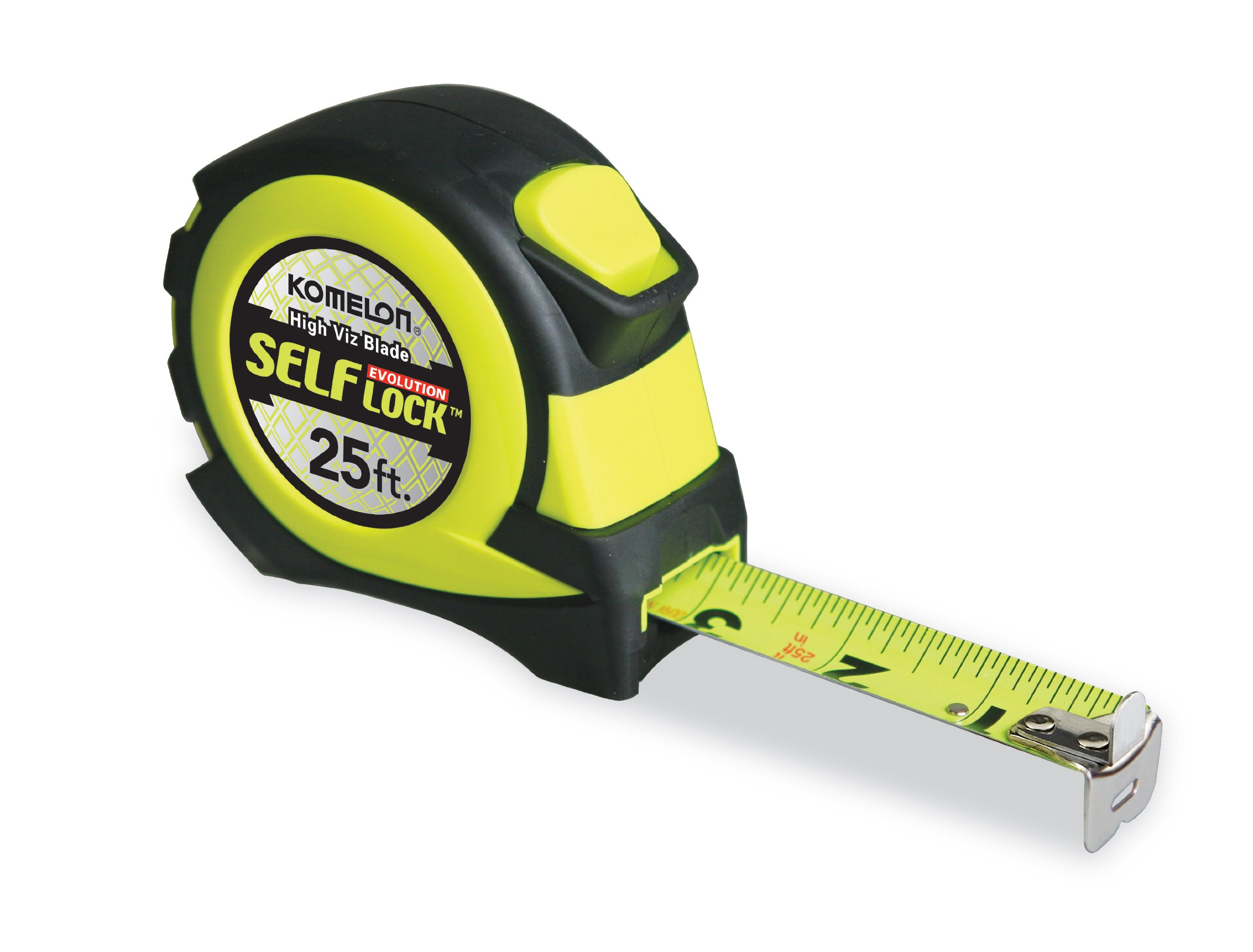 Komelon EV2825 25' x 1'' Self-Lock Evolution Tape Measure, 1-Pack by Komelon