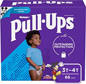 Pull-Ups Learning Designs Boys' Training Pants, 3T-4T, 66 Ct