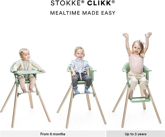 Stokke Clikk - Silla alta para bebé fácil de limpiar con patas ...