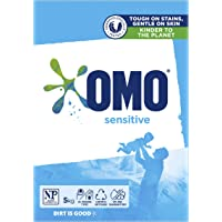Omo Sensitive Laundry Detergent Washing Powder Front and Top Loader 5kg (Packaging May Vary)