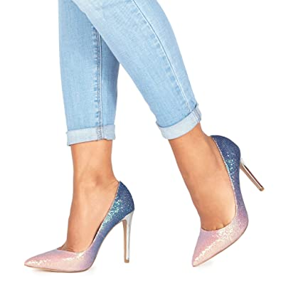 classic cheap price hot sale Blue suedette 'Chlo' high stiletto heel pointed shoes cheap low shipping latest online xckZKpf5aN