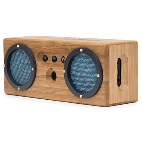 Bongo Bamboo Retro Bluetooth Speakers - Portable Wireless Handcrafted Wood  Speaker for Travel, Home, Outdoors | Dual Passive Subwoofer, 15 Hour