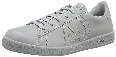Armani Jeans 06565YO, Baskets Homme - Blanc - Weiß (Bianco - White 10), 39