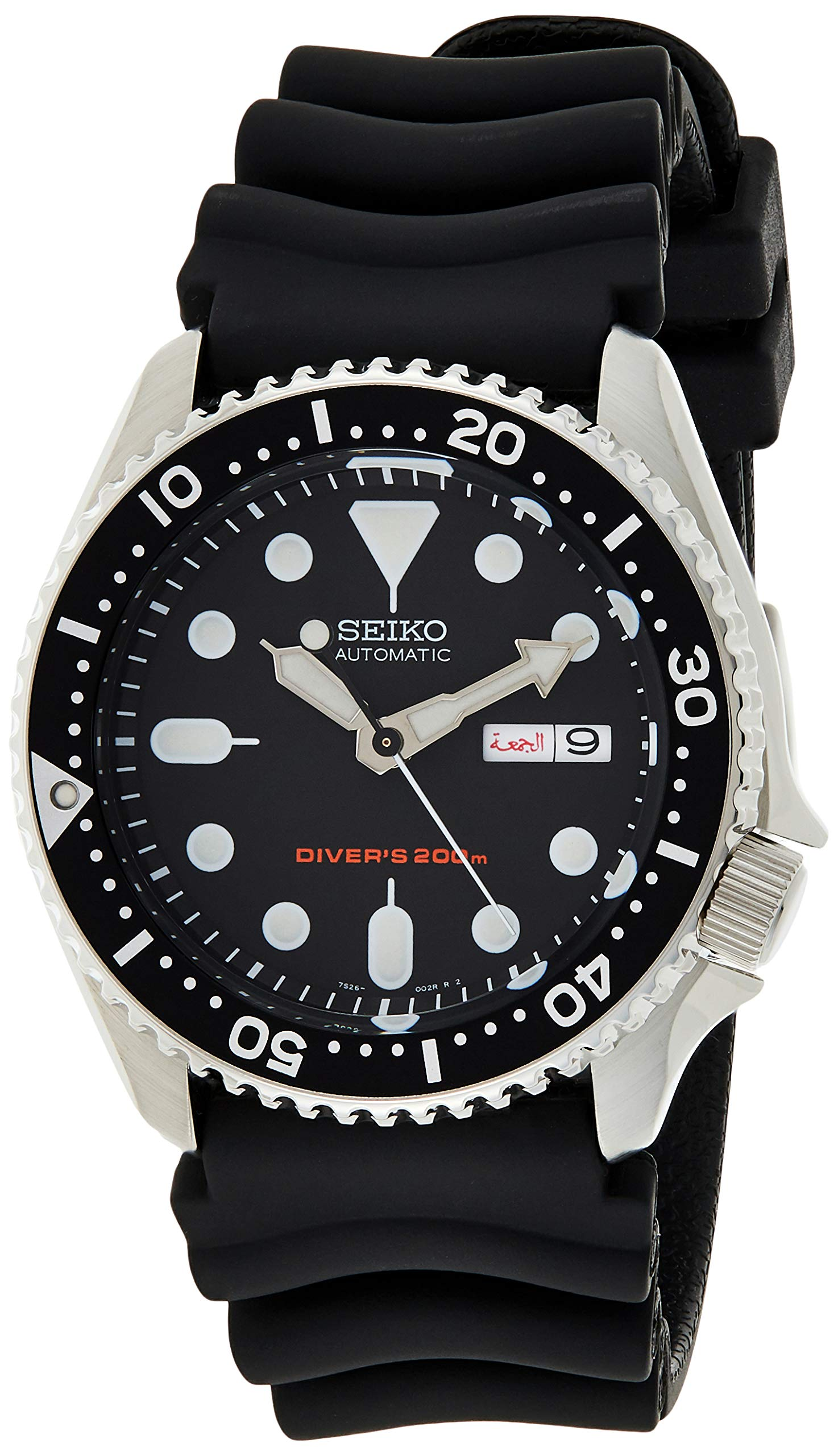 Men's Automatic Analogue Watch with Rubber Strap SKX007K