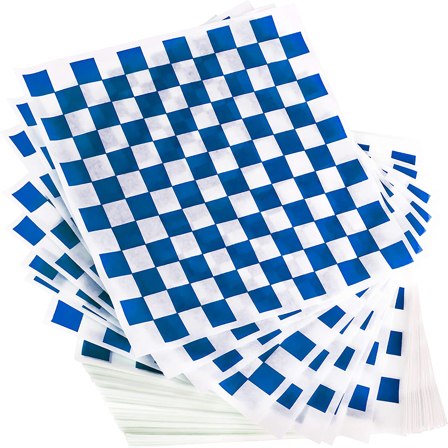 Avant Grub Deli Paper 300 Sheets. Turn Your Backyard Cookout Party into Oktoberfest with Blue & White Checkered Food Wrapping Papers. Grease-Resistant 12x12 Sandwich Wrap Prevents Food Stains!