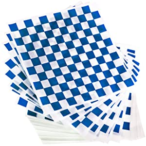 Extra Large, Grease Resistant Blue Sandwich Liner 300 Sheet Pack. Microwave Safe 15x15 in Wax Paper Deli Wrap for Restaurants, Churches, BBQs, Concession Stands, School Carnivals, Fairs. Made in USA.