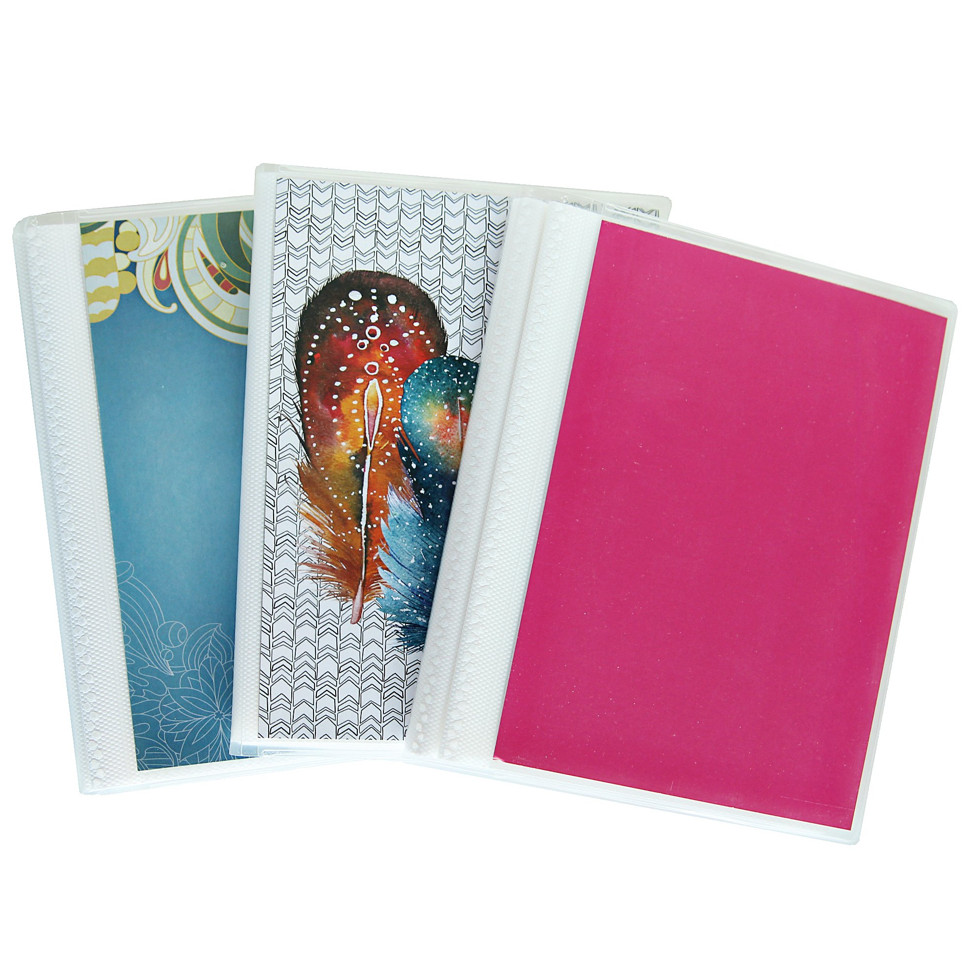 4 x 6 Photo Albums Pack of 3, Each Mini Photo Album Holds Up to 48 4x6 Photos. Flexible, Removable Covers Come in Random, Assorted Patterns and Colors. by CocoPolka