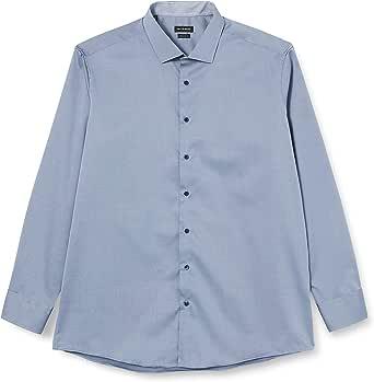 Roy Robson Herren Hemd Aus Baumwolle Regular Fit Langarm Bügelfrei Camisa para Hombre