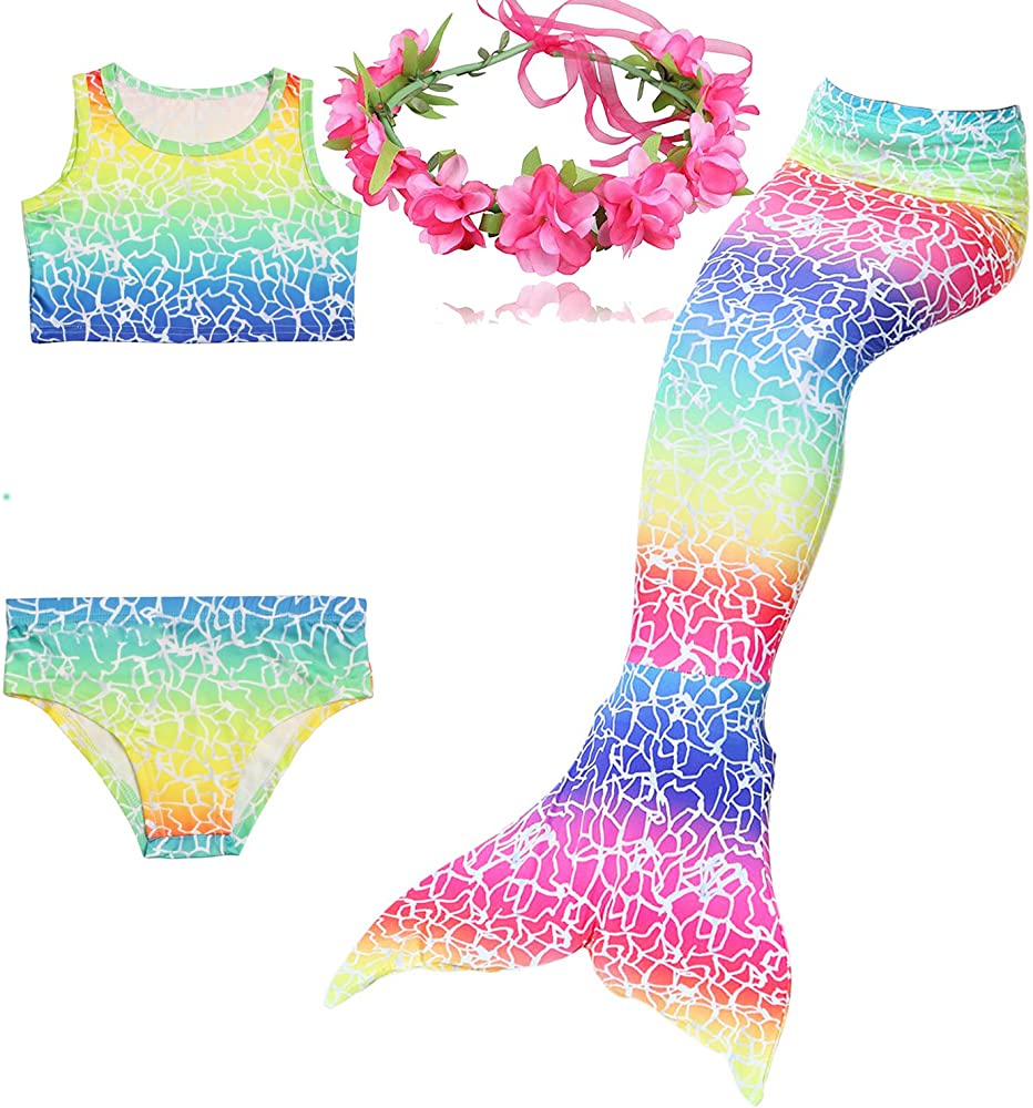Children Little Girls Mermaid Tail Tails For Swimming Women Adult Costume Swimmable Kids For Adults Party Swimsuit Bathing Suit Mother & Kids