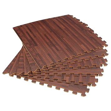 Amazon Forest Floor 38 Thick Printed Wood Grain Interlocking