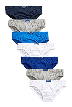 Next Garçon Lot de 7 Slips différentes Couleurs (18 Mois à 16 Ans) Bleu d9dd3fc6576