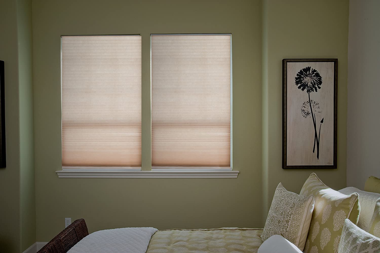 36 inch window blinds - Amazon Com Easy Lift 48 Inch By 64 Inch Trim At Home Fits Windows 28 Inches To 48 Inches Wide Cordless Honeycomb Cellular Shade Light Filtering