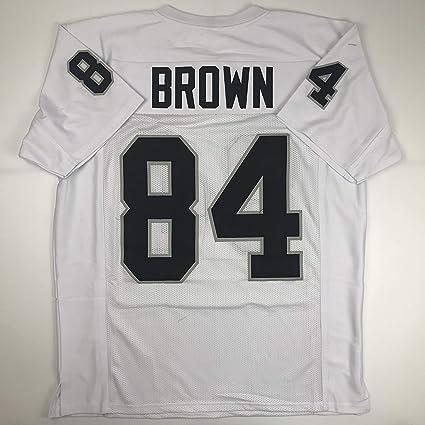brand new 1d2c5 ea4a3 Amazon.com: Unsigned Antonio Brown Oakland White Custom ...