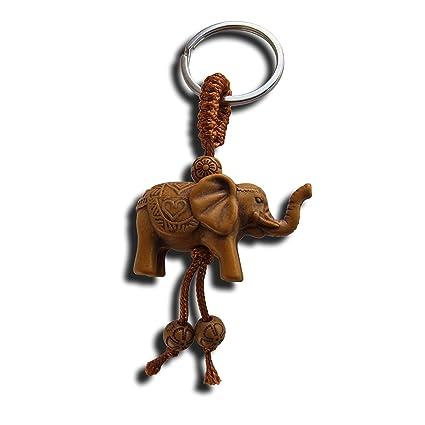 Llavero de la suerte con diseño de elefante, parece de ...