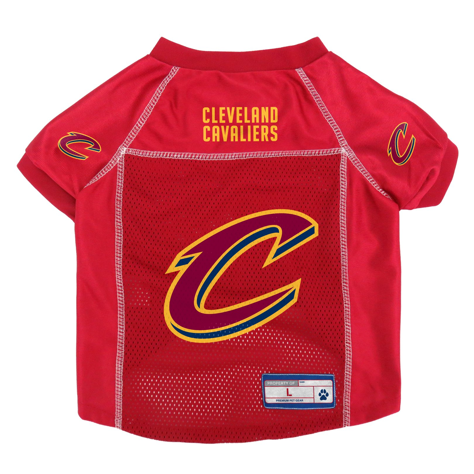 Cleveland Cavaliers Official NBA Pet Jersey Size L by Little Earth 875060