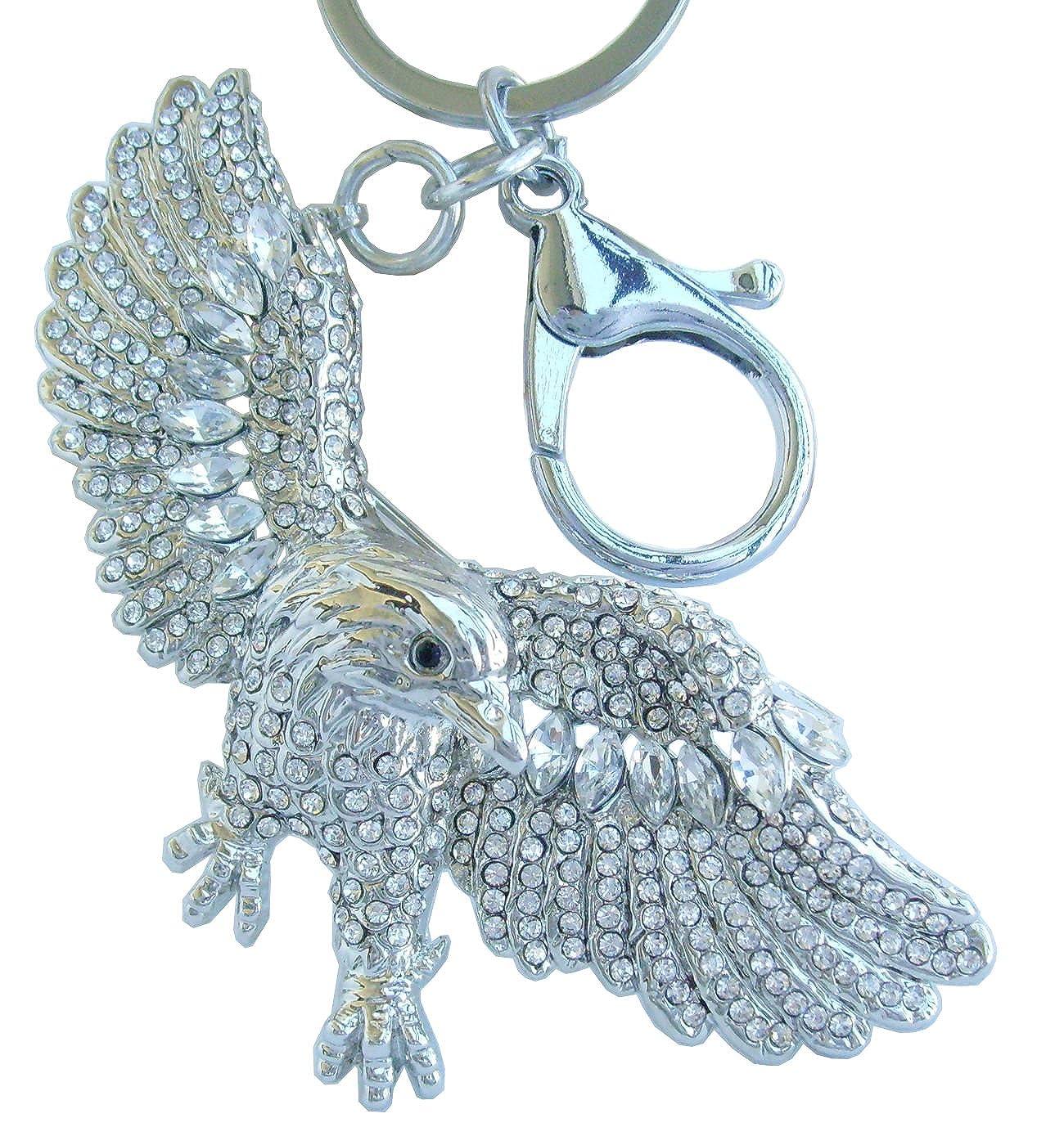 Sindary Austrian Crystal Unique 3.15 Animal Bird Eagle Keychain Pendant K4717