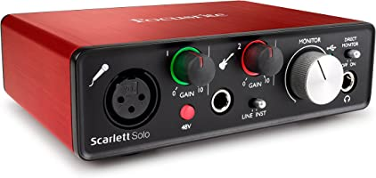 Focusrite Scarlett-Solo Gen2 USB Audio Interface with Pro Tools First