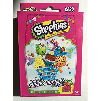 Shopkins Who's The Super Shopper Card Game, 2 Players or More, Ages 3 & Up: Toys & Games
