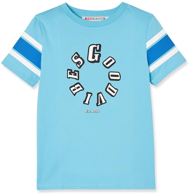 RED WAGON T-Shirt con Stampa e Colori a Contrasto Bambino