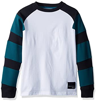 7eeb7e5a6 adidas Originals Boys Originals EQT Long Sleeve Tee, White/Black/Mystery  Green XL