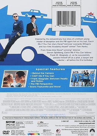 amazon com catch me if you can widescreen two disc special edition leonardo dicaprio tom hanks candice azzara nathalie baye james brolin