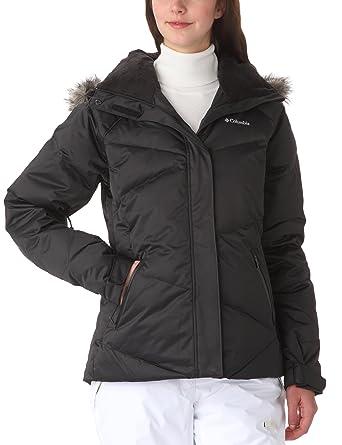Columbia Chaqueta de esquí para mujer, tamaño XL, color negro