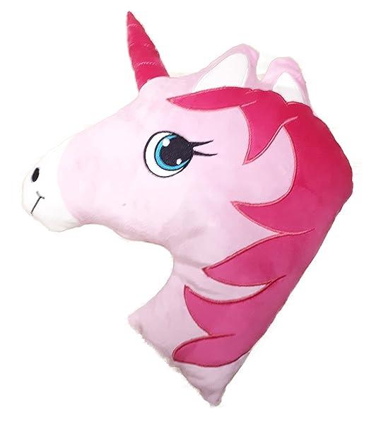 Harmony - Cojín con forma de caballo de unicornio rosa y ...
